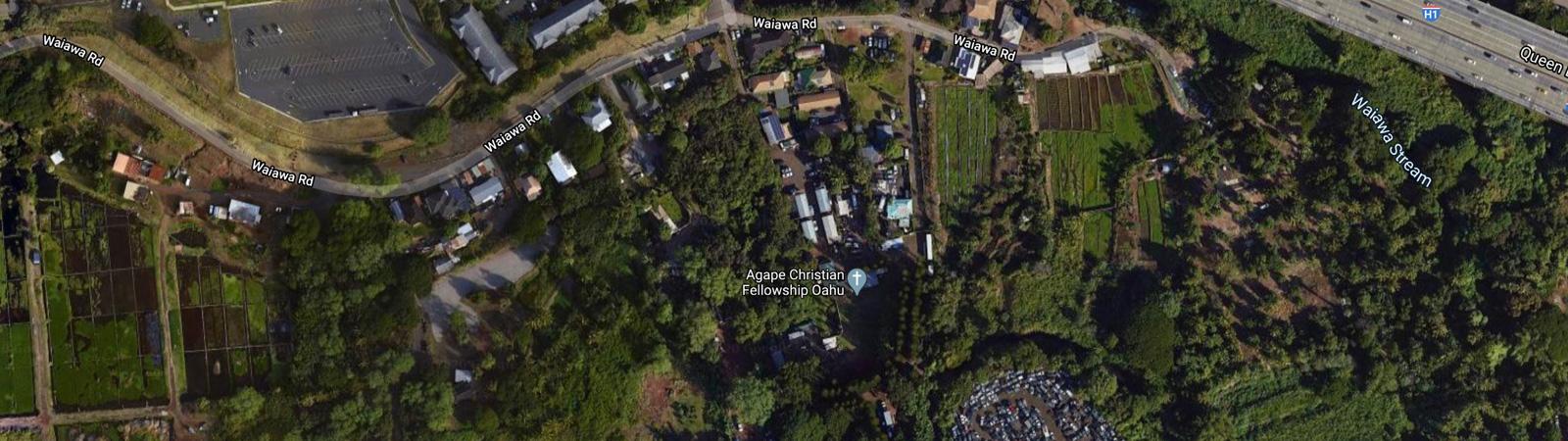 Agape Christian Fellowship Oahu Map