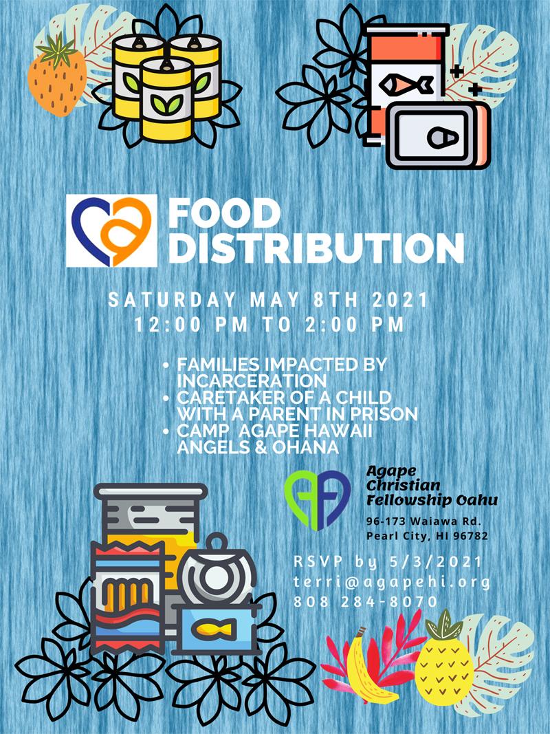 May 8, 2021 Agape Food Distribution
